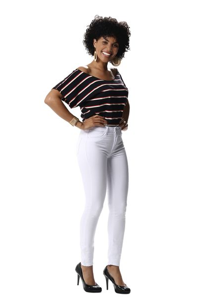 Calça Jeans Feminina Cigarrete Push Up - 256012