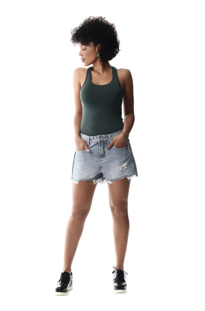 Shorts Jeans Feminino Boyfriend - 256429