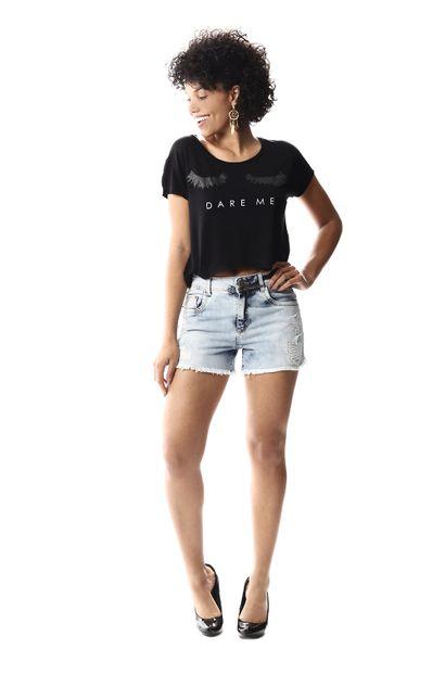 Shorts Jeans Feminino Boyfriend - 256603