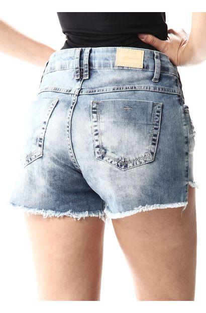 Shorts Jeans Feminino Boyfriend - 256740