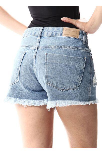 Shorts Jeans Feminino Boyfriend - 256871