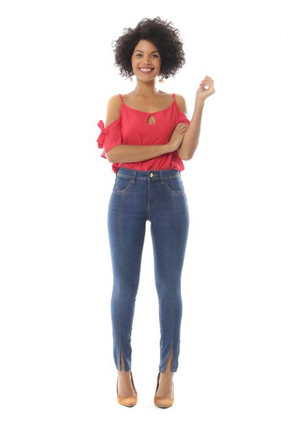 Calça Jeans Feminina Cigarrete - 252961