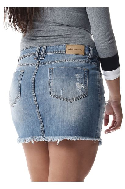 Saia Jeans Feminina - 256880