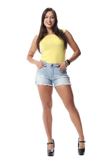 Shorts Jeans Feminino - 256702