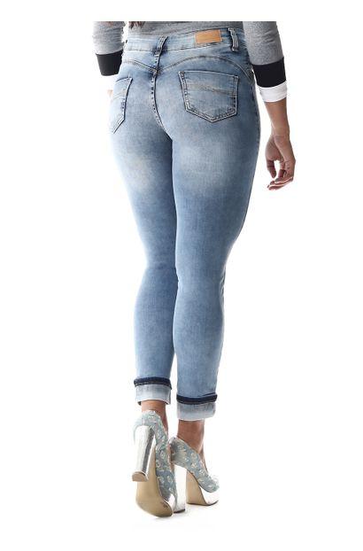 Calça Jeans Feminina Cropped - 256970