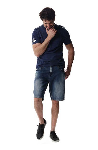 Bermuda Jeans Masculina - 256878