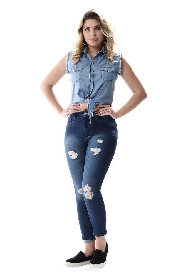 2227623ee Calça Jeans Feminina Cropped Super Lipo - 257064 - SawaryB2C
