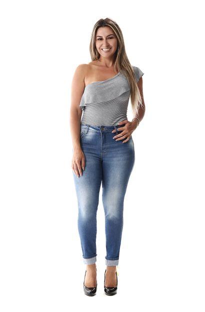 Calça Jeans Feminina Cropped - 257038