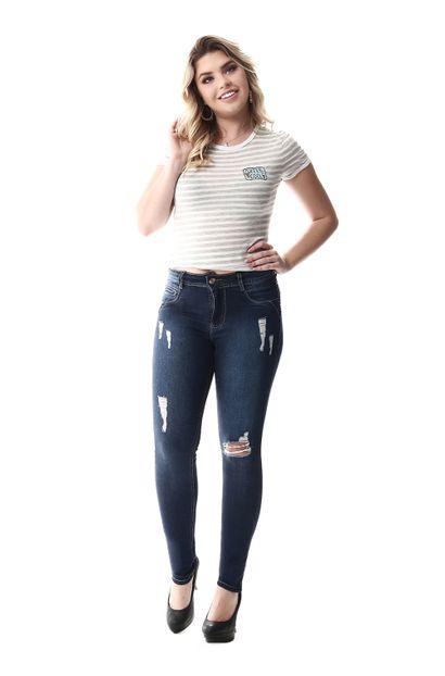 Calça Jeans Feminina Skinny Intermediaria- 255830