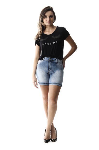Bermuda Jeans Feminina Heart - 257061