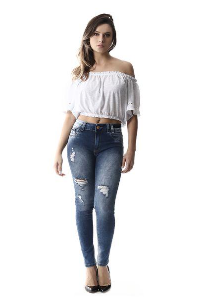 Calça Jeans Feminina Cigarrete Intermediaria - 257319