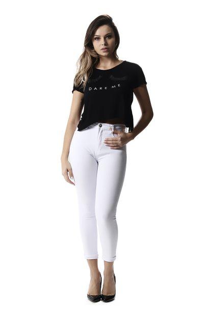 Calça Jeans Feminina Cropped Super Lipo - 257450
