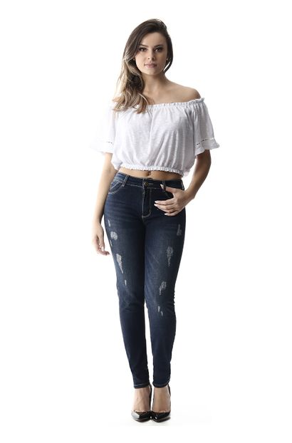 Calça Jeans Feminina Cigarrete Up - 255234
