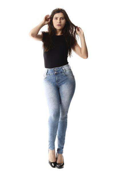 Calça Jeans Feminina Legging Modela Bumbum - 256825
