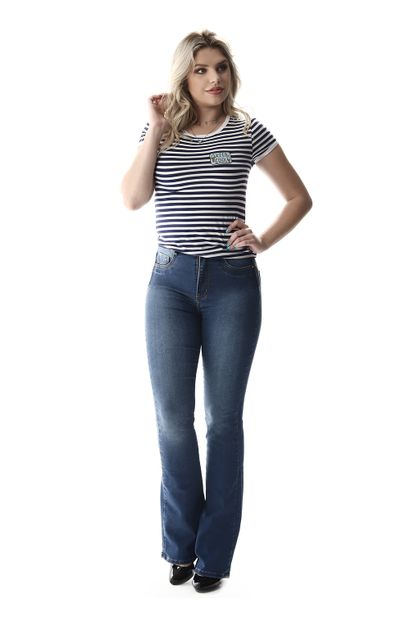 Calça Jeans Feminina Flare Super Lipo - 257628