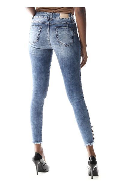 Calça Jeans Feminina Cigarrete Intermediaria - 255309