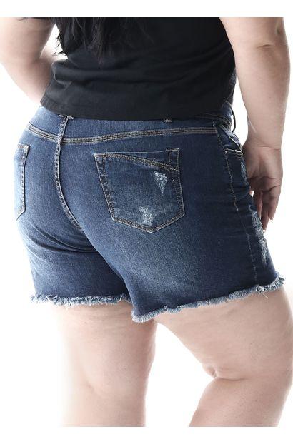 Shorts Jeans Feminino Plus Size - 257179