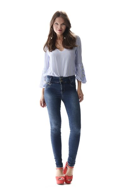 Calça Jeans Feminina Legging Modela Bumbum - 256868