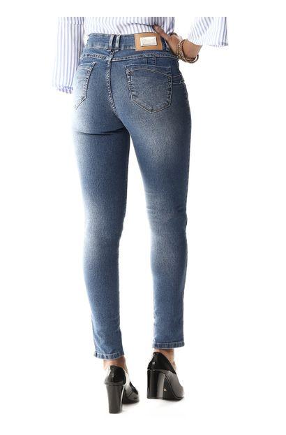 Calça Jeans Feminina Cigarrete Intermediaria - 257332