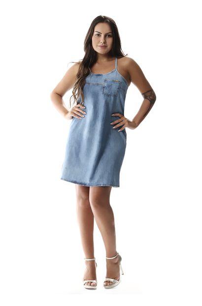 Vestido Jeans Feminino - 257370