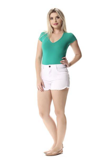 Shorts Jeans Feminino - 257843