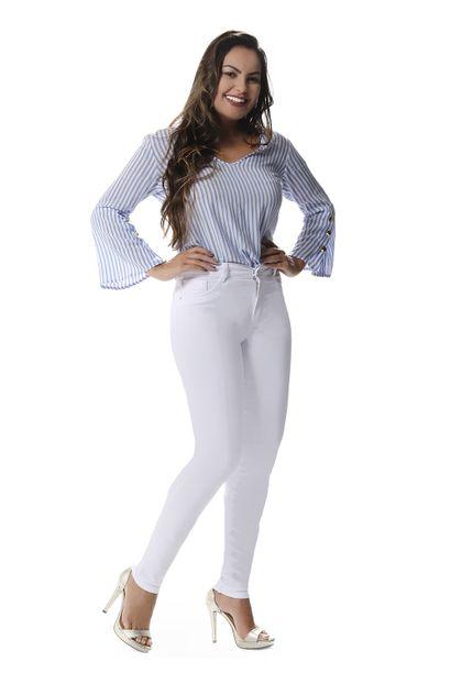 Calça Jeans Feminina Hot Pants Branca - 258101