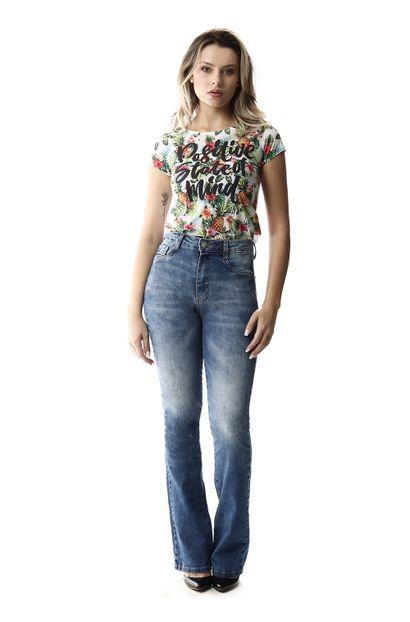 Calça Jeans Feminina Super Lipo Azul - 257903