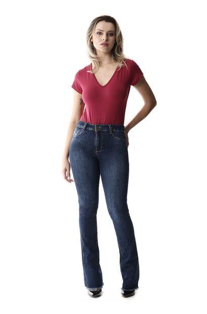 Calça Jeans Feminina Flare Push Up - 257808