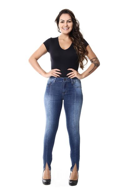 Calça Jeans Feminina Cigarrete Intermediaria - 253314