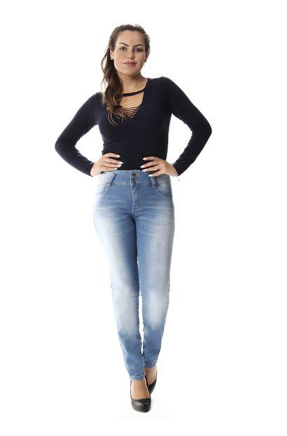 Calça Jeans Feminina Legging Modela Bumbum - 257026