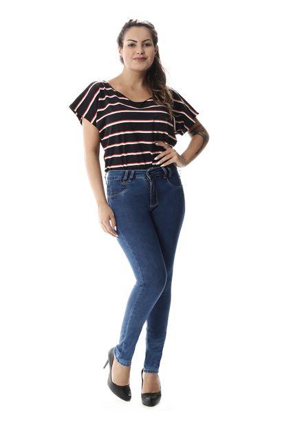 Calça Jeans Feminina Cigarrete Intermediaria - 257403