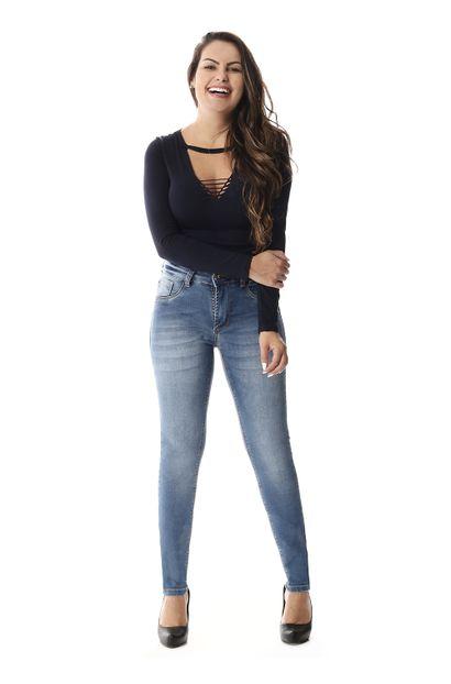 Calça Jeans Feminina Cigarrete Intermediaria - 257879