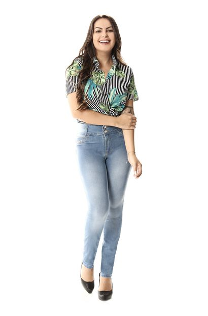 Calça Jeans Feminina Legging Modela Bumbum - 257401