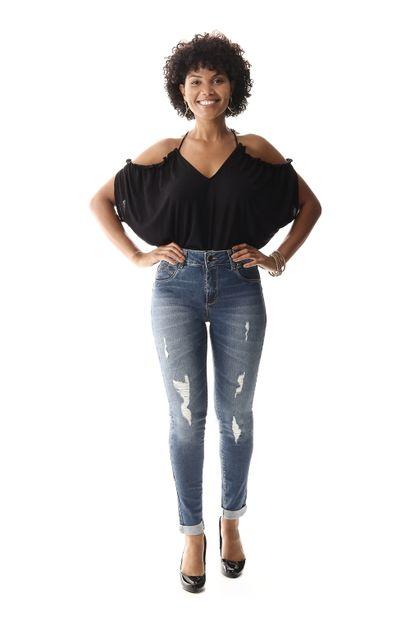 Calça Jeans Feminina Cigarrete Levanta Bumbum - 258070
