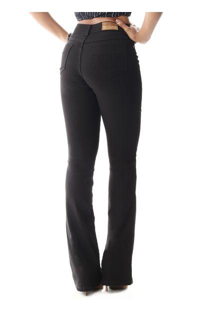 Calça Jeans Feminina Flare Preta - 258325