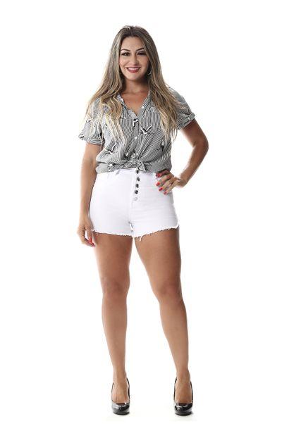 Shorts Jeans Feminino Branco - 258126