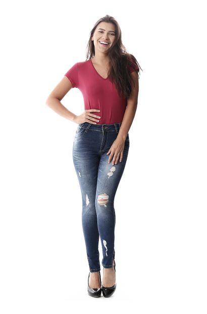 Calça Jeans Feminina Intermediaria - 258239