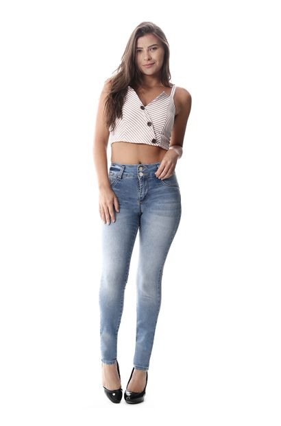 Calça Jeans Feminina Legging Modela Bumbum - 258067