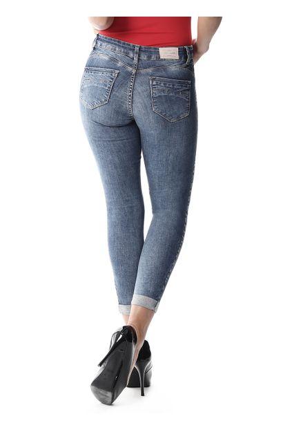 Calça Jeans Feminina Cropped - 258142