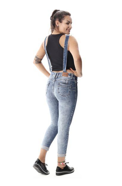 Macacão Jeans Feminino Cropped - 258091