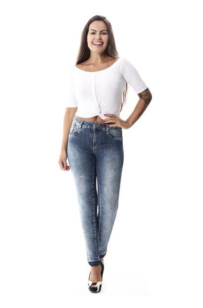 Calça Jeans Feminina Cigarrete - 258085