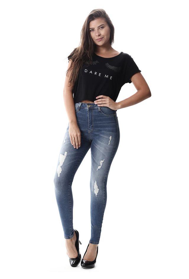 2fdd7f78ff Calça Jeans Feminina Legging Super Lipo - 257624 - SawaryB2C