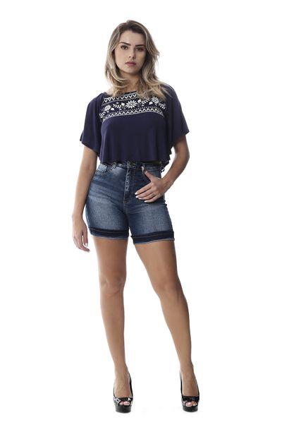 Bermuda Jeans Feminina Super Lipo - 258527