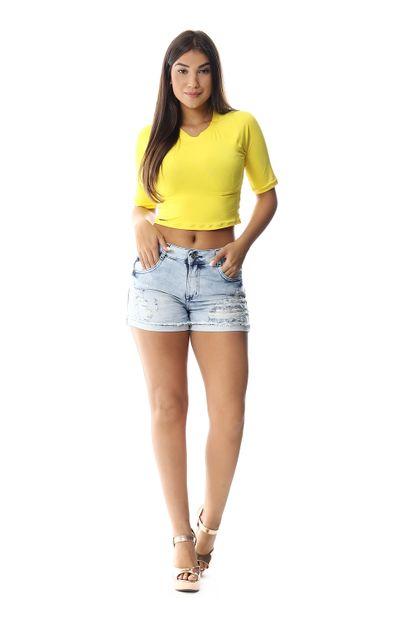 Shorts Jeans Feminino Boyfriend - 258741