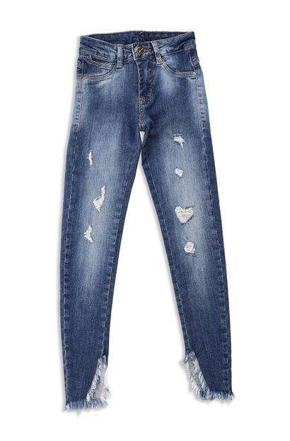 Calça Jeans Juvenil Cigarrete - 250549