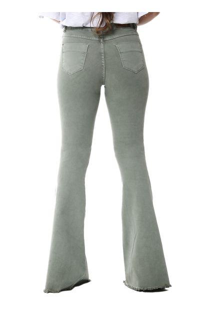 Calça Jeans Feminina Flare Verde - 255784
