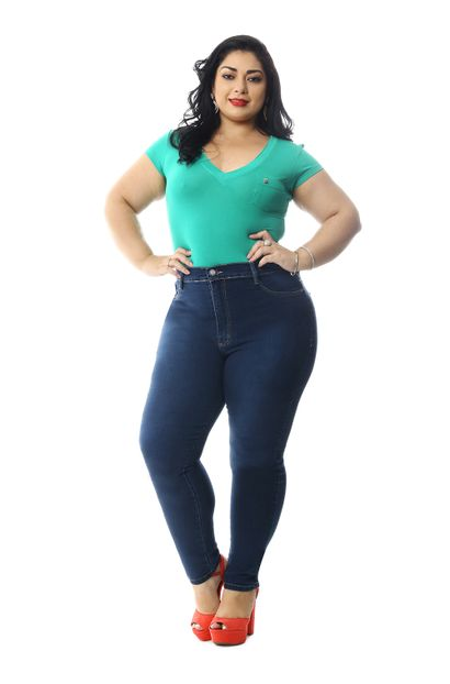 Calça Jeans Feminina Cigarrete Plus Size - 258794