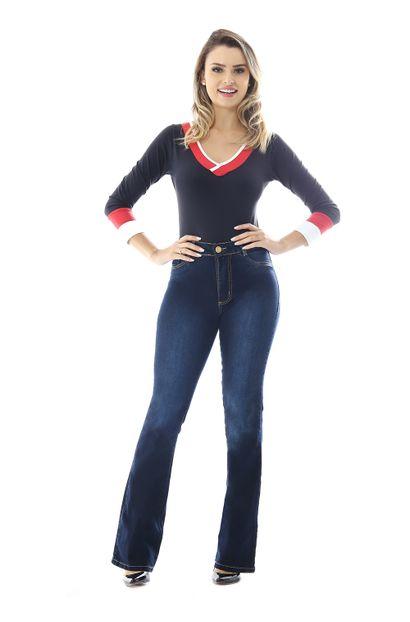 Calça Jeans Feminina Flare Boot Cut - 258526