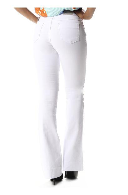 Calça Jeans Feminina Flare Branca - 257846