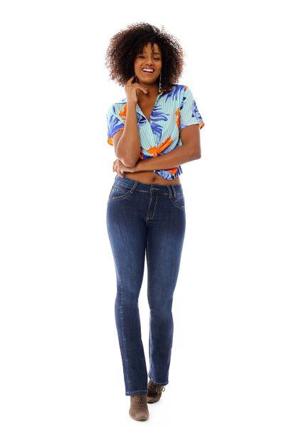 Calça Jeans Feminina Flare Levanta Bumbum - 258691